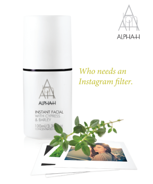 Alpha H instant Facial Product launch
