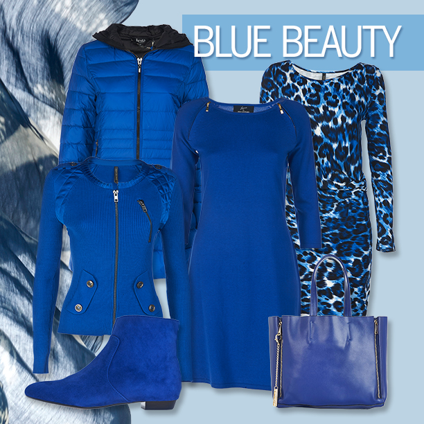 Winter Fashion Trend - Blue Beauty